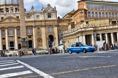 Vatican police car Stock Photos