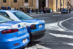 Vatican police cars Stock Photo