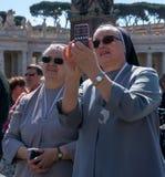 Vatican Pope Francis Pilgrims Stock Image