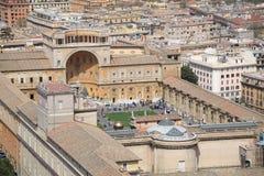 vatican powietrzny podwórzowy muzealny widok Obraz Stock