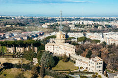 Vatican radio. Building as seen from above Stock Image