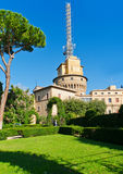 Vatican radio station and Vatican gardens. In Vatican in Rome. Italy stock images