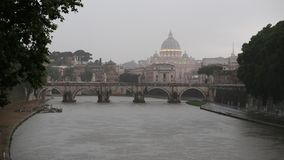 Vatican on a rainy day. stock footage