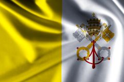 Vatican realistic flag illustration. Usable for Background and Texture stock illustration