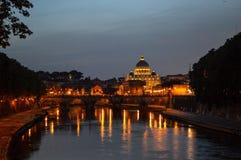 Vatican Reflection. Vatican City, Tiber, Rome, Italy 2015 Royalty Free Stock Photos