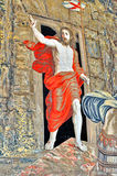 Vatican, Resurrection Of Christ. Tapestry with Resurrection Of Christ in Vatican City, Rome Italy stock photo