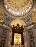 Vatican Rome. Interior of Saint Peter's dome (Basilica di San Pietro) Vatican Town, Rome, Italy Stock Photo