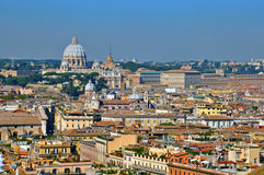 Vatican and Rome cityscape Royalty Free Stock Photos