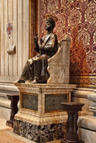 Vatican, Rome, Italy. Bronze statue of Saint Peter holding the k Royalty Free Stock Photos