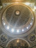 Vatican, Rome, Italy. Interior of St. Peter`s Basilica. royalty free stock photo