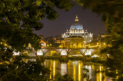 Vatican at Night Royalty Free Stock Photos