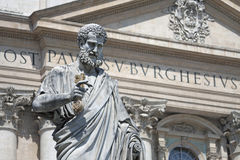 Vatican Rome, Italy. Statue of Saint Peter with key in hand an Royalty Free Stock Photo
