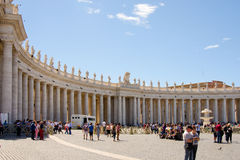 VATICAN, ROME, Saint Peter's Square. Views of Saint Peter's Square and St. Peter's Basilica Royalty Free Stock Image