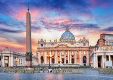 Vatican, Rome, St. Peter's Basilica Royalty Free Stock Images