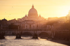 Vatican Rome. Sunset on the Vatican, Rome Royalty Free Stock Photography