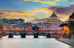 Vatican, Rome. At sunset time Royalty Free Stock Photo