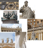 Vatican, Saint Peter, detalhes Imagens de Stock