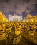 Vatican. Saint Peter's Square at night, Rome Stock Photos