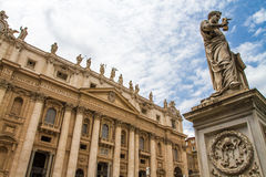 Vatican. Saint Peter statue in front of the Vatican Basilica Royalty Free Stock Photo