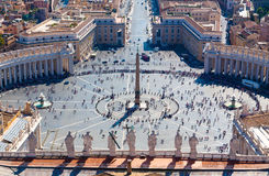 Vatican. Saint Peters square at the Vatican.St. Peters Basilica Stock Image