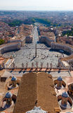 Vatican. Saint Peters square at the Vatican.St. Peters Basilica Royalty Free Stock Photography