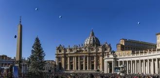 Vatican san pietro rome conciliazione panorama connade bernini r Royalty Free Stock Images