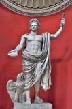 Vatican Sculpture. The Sculpture Of Caesar Claudius in Vatican City, Rome Italy stock photos