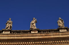 Vatican. Sculptures on St. Peter Basilica Stock Photography