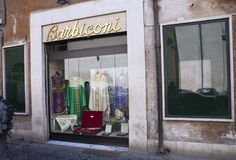 VATICAN - SEPTEMBER 20, 2010: clothing store for priests.  stock photography