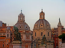 Vatican skylight at twilight. The historic buildings at Vatican city, Italy. Illuminated by the warm golden twilight in the afternoon Stock Image