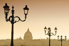 Vatican Skyline in Italy. Vatican Skyline in Rome, Italy Stock Photography
