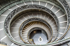 The Vatican Spiral Staircase. In Rome, Italy Stock Images