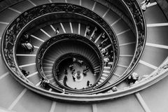Vatican Spiral Staircase. Spiral staircase at the Vatican Museum in Rome Stock Photos