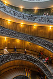 Vatican Spiral Stairs Stock Photo
