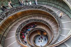 Vatican Spiral Stairs Stock Image
