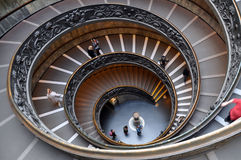 Vatican spiral stairs Royalty Free Stock Photography