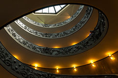 Vatican spiral stairscase. Double helix. Detail of double helix staircase in Vatican museum, Rome, Italy Stock Photos