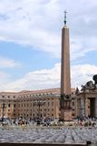 Vatican Square. View of obelisk in Vatican Square, Rome stock photos