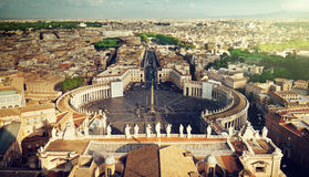 Vatican square of saint Peter Stock Photography
