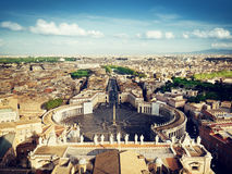 Vatican square of saint Peter Stock Images