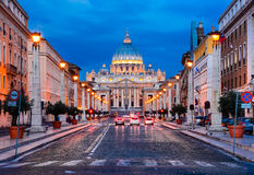 Vatican, St. Peter Basilica, Italy Stock Photos