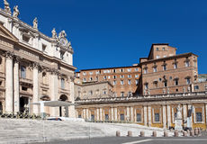 Vatican. St. Peter's cathedral .City landscape Royalty Free Stock Photos