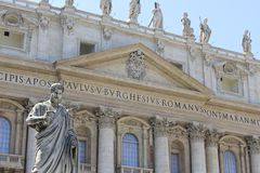 The Vatican (St. Peters Basilica). St. Peters Basilica in Vatican City Stock Images