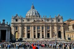 Vatican - St. Peters Basilica - Rome - Italy Stock Photos