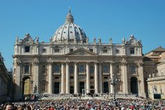 Vatican - St. Peters Basilica - Rome - Italy Royalty Free Stock Photography