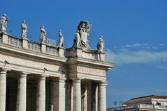 Vatican - St. Peters Basilica - Rome - Italy. Saint Peters square at the Vatican, Rome Italy Royalty Free Stock Image
