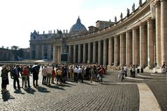 Vatican - St. Peters Basilica - Rome - Italy Stock Photography