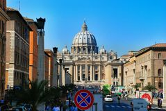 Vatican - St. Peters Basilica - Rome - Italy Royalty Free Stock Photo