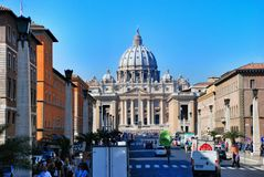 Vatican - St. Peters Basilica - Rome - Italy Royalty Free Stock Photos