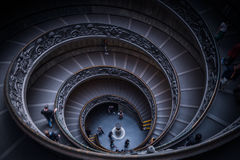 Vatican Staircaise. Tourists descending by the spiral staircase of the Vatican Museums, Vatican City Stock Photos